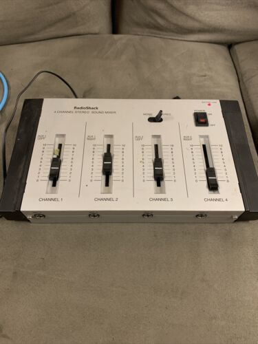 Radio Shack 4 Channel Stereo Sound Mixer 32-2056 - $37.99