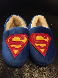 Baby superman slippers - new