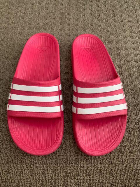 56380d1dc Adidas Duramo Slide K Pink White Kids Youth Girls