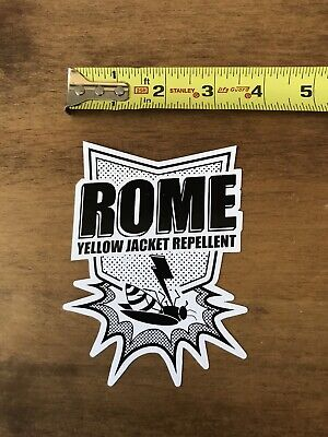 Rome SDS Yellow Jacket Repellent Snowboard Ski Skiing Sticker/Decal Vinyl for sale  Shipping to India