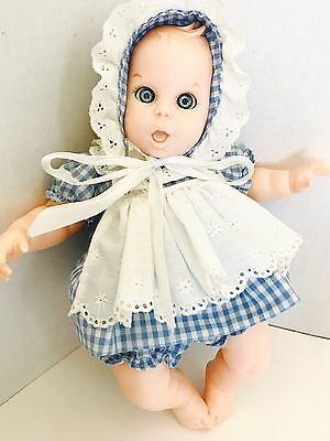 "Vintage 12"" GERBER PRODUCTS BABY Girl DOLL Moving Eyes 1988"