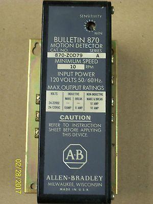 Allen Bradley Motion Detector 120v 870-zod81