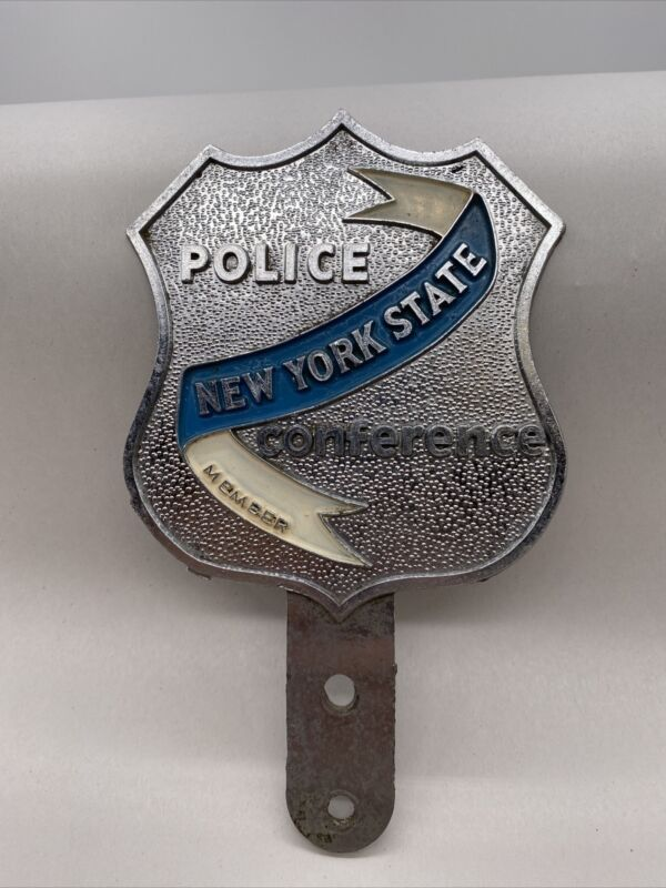 Vintage New York State Police Conference Member Car Plaque Plate Topper RARE