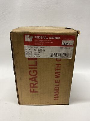 New Federal Signal 121s-120a Rotating Amber Strobe