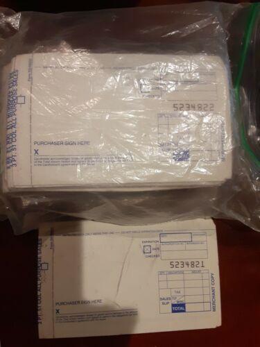 200  3PART Credit Card Manual Imprinter Slip Paper Draft Forms
