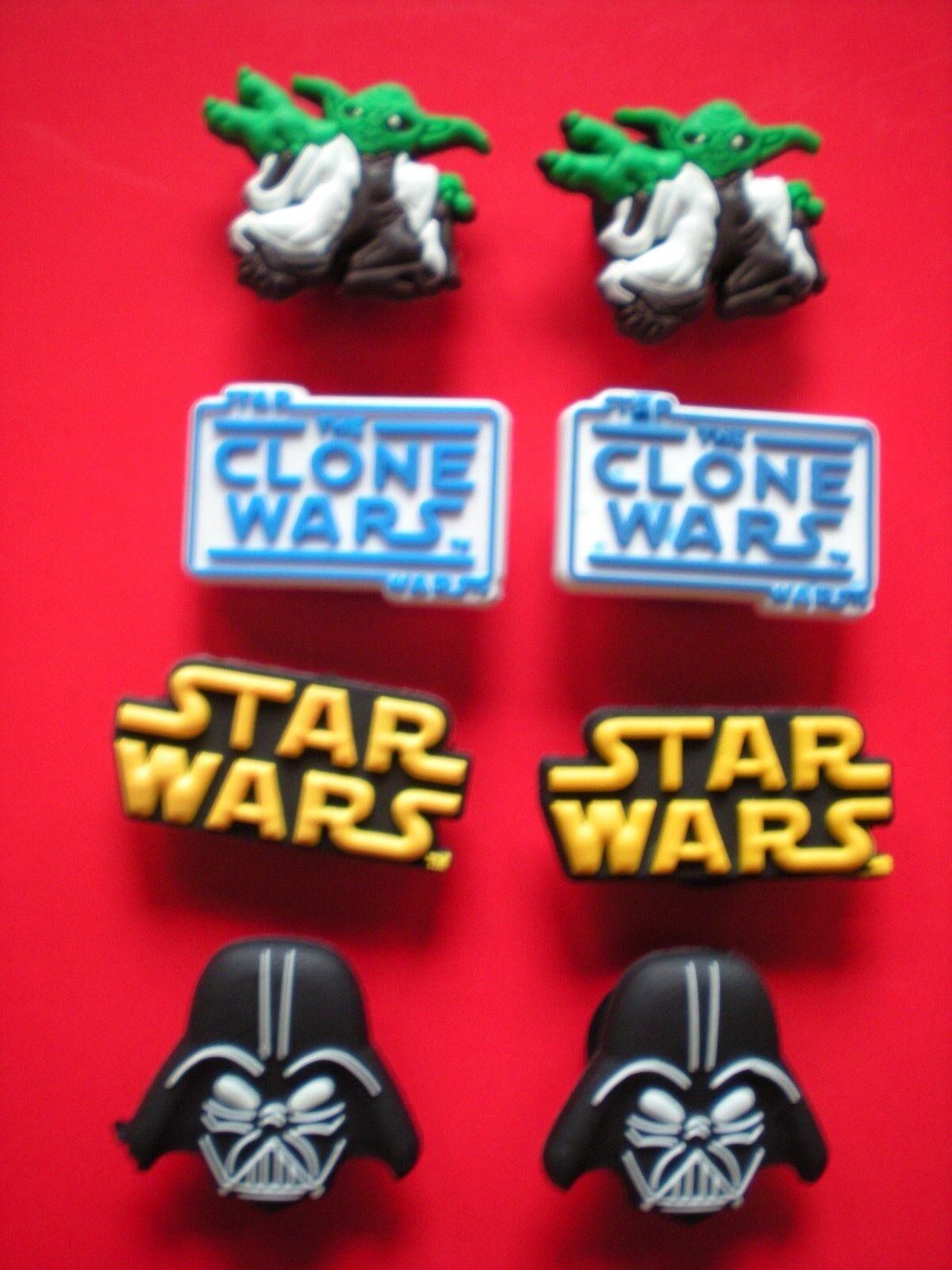 Clog Charm Plug Fit Wristbands Belts 8 Starwars Yoda Darth Vadar