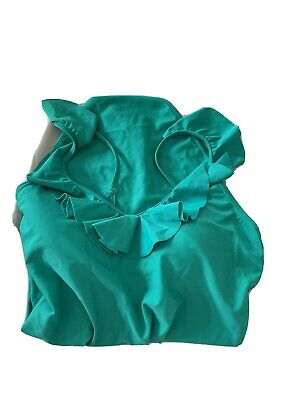 Marks And spencer Size 12 Jade Green Frill Swimming Suit