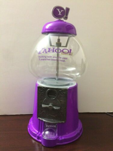 YAHOO! Gumball Gum Ball Machine 5 Years Employee Anniversary Award Collectible