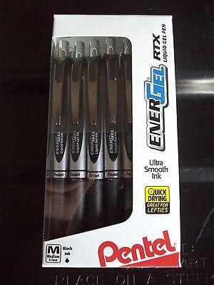 12 Pentel BLACK EnerGel Deluxe RTX 0.7mm Rollerball Gel Ink Pens Liquid X1071 NU