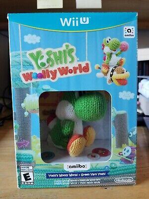 Yoshi's Woolly World (Wii U, 2015) + Green Yarn Yoshi Amiibo Bundle
