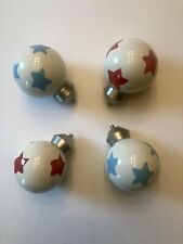 Pottery Barn Kids Finials 2 Red Star And 2 Blue Star Ebay