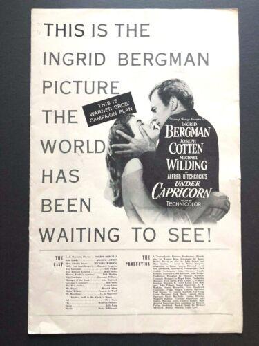 "Under Capricorn Original Pressbook (Hitchcock, 1949) - 16 Pages - 11"" x 17""  EX"