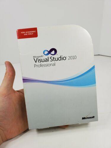 Microsoft Visual Studio Professional 2010: Windows OS Academic Good Condition
