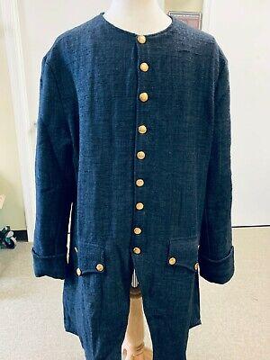 Dark Blue Jean Frock Coat - Man's 48