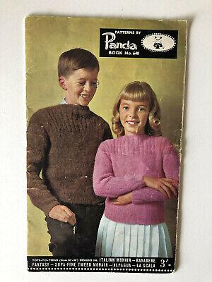 Panda Book 640 Tots to Teens Kids Knits Vintage Knitting Patterns