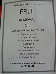 free pick up of scrap metal Melrose Park Mitcham Area Preview