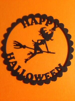 Happy Halloween w/witch Die Cut Embellishments 6 sets/ 12 pcs](Happy Halloween Witch)