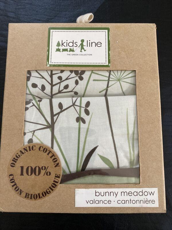 Kids Line Bunny Meadow Valance 100% Organic Cotton
