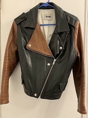 Acne Leather Jacket 36