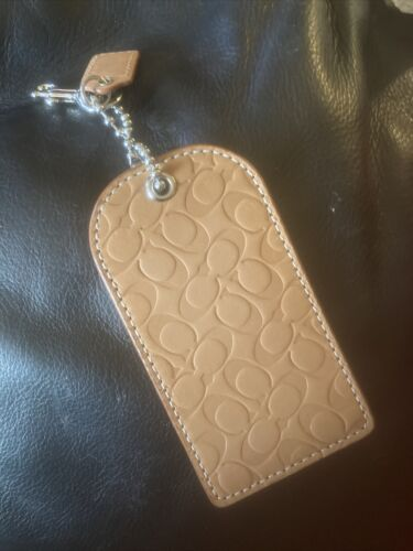 Coach Leather Luggage Tag - Brown  - $9.00