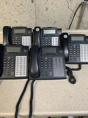 Esi 48 Key H Dfp Black Digital Display Charcoal Phones With Stands Lot Of 5