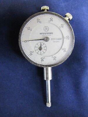 Mitutoyo 2416 Dial Indicator 0-100 Reading Dial Adjustment