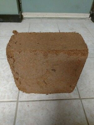 (Large 10 pound brick of compressed coconut husk organic )