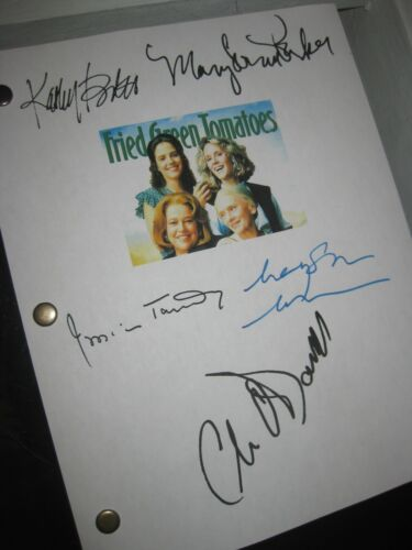 Fried Green Tomatoes Signed Film Script X5 Jessica Tandy Kathy Bates Parker RPNT