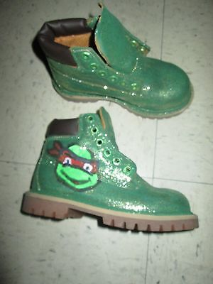 Timberland NUBUCK Wheat Boot 12809 Boy Toddler Ninga Turtle Custom Theme Party!](Toddler Boy Party Themes)