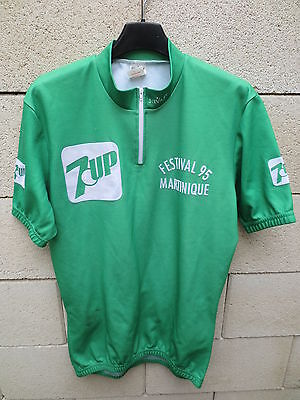 VINTAGE Maillot cycliste FESTIVAL 1995 MARTINIQUE 7 UP Seven shirt Servary 4 image
