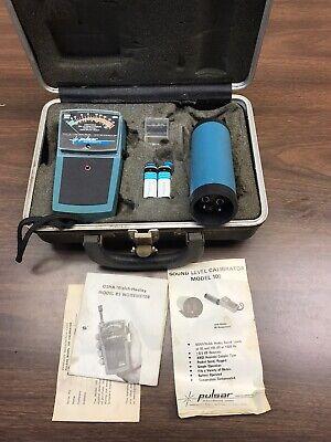 Vintage Pulsar Model 85 Sound Meter And Model 100 Sound Calibrator