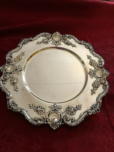 "Ornate, Gorgeous Redlich Silver Company Sterling 10 1/2"" Tray/Platter/Charger"