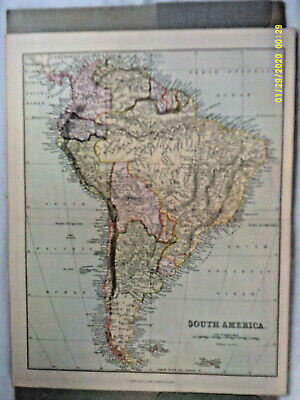 Antique Map. SOUTH AMERICA. William mackenzie. Undated.