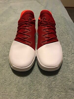 """Adidas Harden Vol. 1 Basketball Shoes """"Home"""" BW0547 Red/White Men's Size 12"""