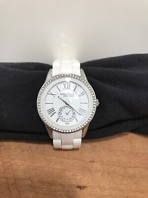 Anne Klein New York Women's White Ceramic Watch Set 12/2199  Swiss