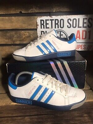Adidas Originals Forest Hills Trainers UK Size 7 White Blue Leather B23714