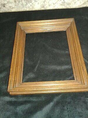 Vintage Walnut Wood Frame Scalloped Edge Wedding Frame 8 x 10 1980s