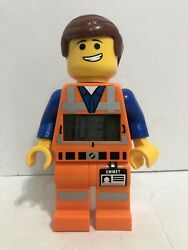 2014 LEGO Movie Emmet Light Up Oversize Minifig Alarm Clock Works and Clean