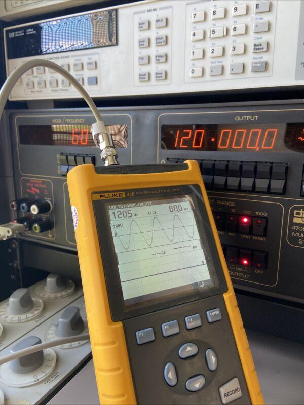 Fluke 43B Single Phase Power Quality Analyzer *TESTED*