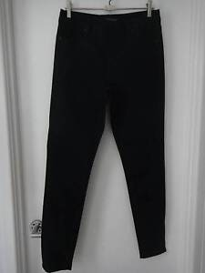 SIZE 12 BLACK DENIM HIGH WAISTED JEANS FROM JUST JEANS Collingwood Park Ipswich City Preview