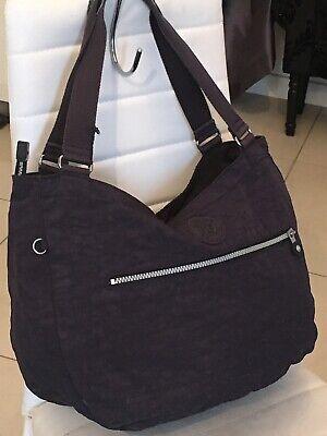 Kipling💜  Large Nave Bag💕 Shoulder Tote Handbag 👜 Inner And Outer Pockets❣️