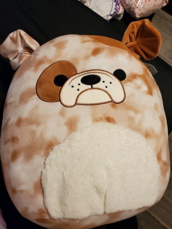 "Bronk The Bulldog Brown White Squishmallow 16"" Target Exclusive NEW Kellytoy"