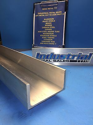 6061 T6 Aluminum Channel 3 X .130 X 1-12 X 24long