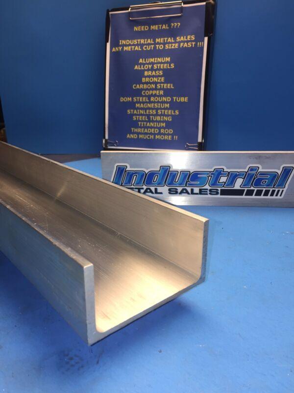 """6061 T6 Aluminum Channel 3"""" x .130"""" x 1-1/2"""" x 24""""Long"""