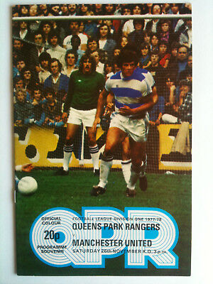 1977/78 Queens Park Rangers v Manchester United 1st Division