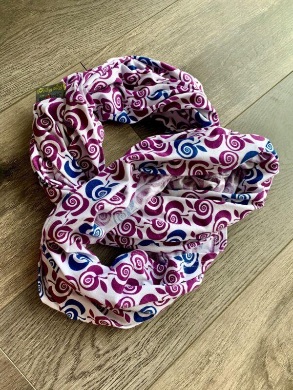 Itzy Ritzy INFINITY Scarf Nursing Breastfeeding Car seat Cover White Purple Blue
