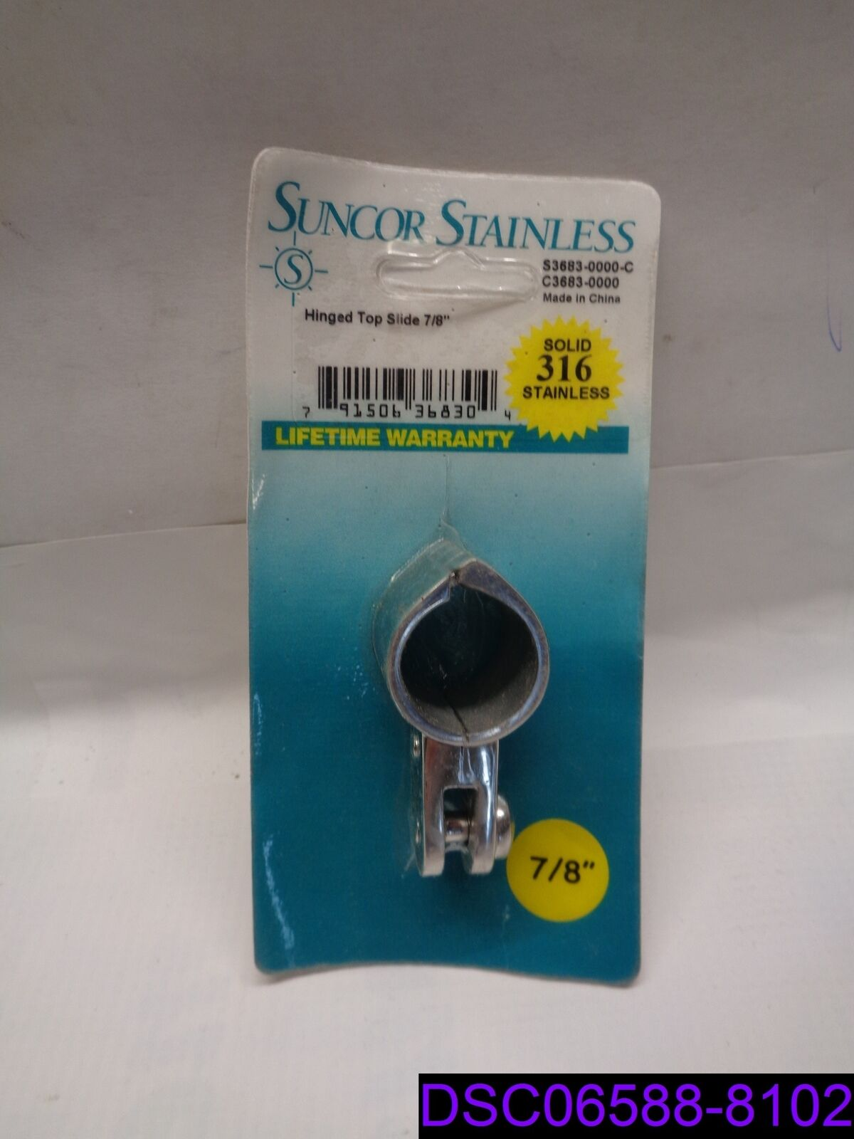 """Qty = 3: Suncor Stainless Hinged Top Slide 7/8"""" 316 Stainless P/N S3683-0000"""