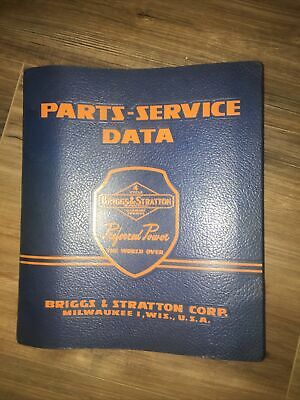 Vintage Briggs Stratton Corp. Parts-service Data 1957 Manual 4 Cycle Gasoline