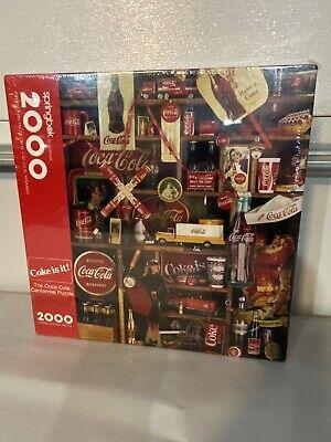 Sealed Vintage ~ Springbok Coke it is! 2000 piece jigsaw puzzle 1986 Coca Cola