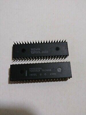 2 Pcs P80c31bh Intel Chmos Single-chip 8-bit Microcontroller Dip40 P80c31bh 1980